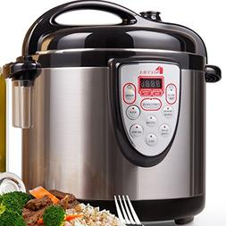Secura 6-in-1 Programmable Electric Pressure Cooker 6qt, 18/