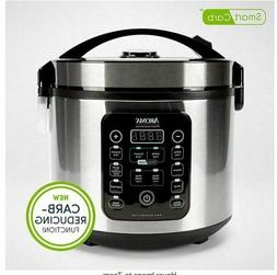 Aroma Housewares 20-Cup Stainless Steel Rice Cooker Digital