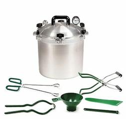 All American 21.5 QT Pressure Cooker Bundle with 2 Racks and