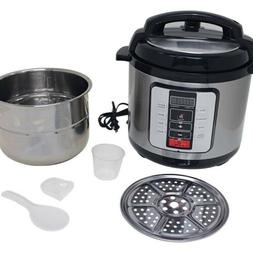 Precise Heat™ 6.3Qt. Electric Pressure Cooker –Stainless