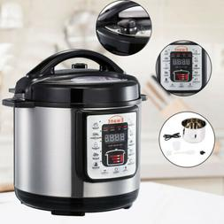 9-in-1 6 Qt Programmable Electric Pressure Cooker Rice Cooke