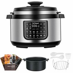 Geek Chef 8 Qt Electric Pressure Cooker with non stick oval