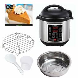 8-Quart Electric Pressure Cooker with Stainless Steel Pot an