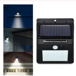 8 LED Solar Power PIR Motion Sensor Wall Light Outdoor Water