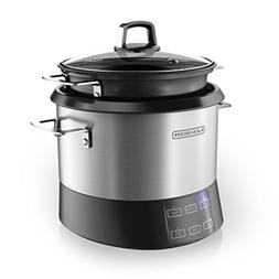 BLACK+DECKER RCR520S All-in-One Cooking Pot, 20-Cup Cooked/1