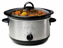 Chefman RJ15-6-SS-R 6 quart Slow Cooker with 3 Manual Heat S