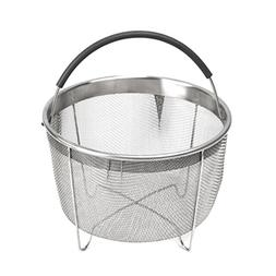 kaviatek B47D Pressu Stainless Steel Steamer Basket with Han
