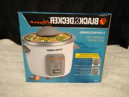 BLACK & DECKER HOME 3 CUP ELECTRIC RICE COOKER MODEL RC3303