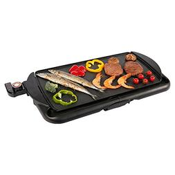 """Electric Griddle with Drip Tray,nonstick,10 x 18"""",Black,BOFO"""