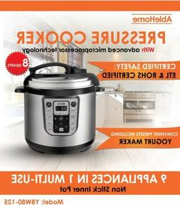 Electric Pressure Cooker Multi-function 8 Quarts 1250W Stain