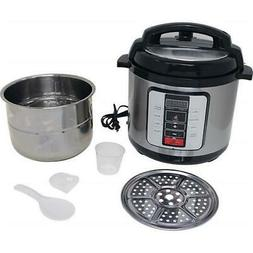 Precise Heat KTELPCS Electric Pressure Cooker Stainless Stee