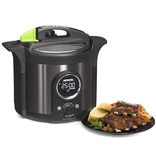 Presto Multi-use Programmable Plus Pressure Cooker Black Stainless