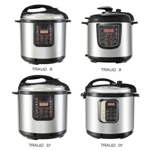 6 8 10 12qt digital multifunction stainless