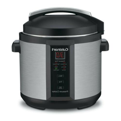 6 quart electric pressure cooker brushed stainless