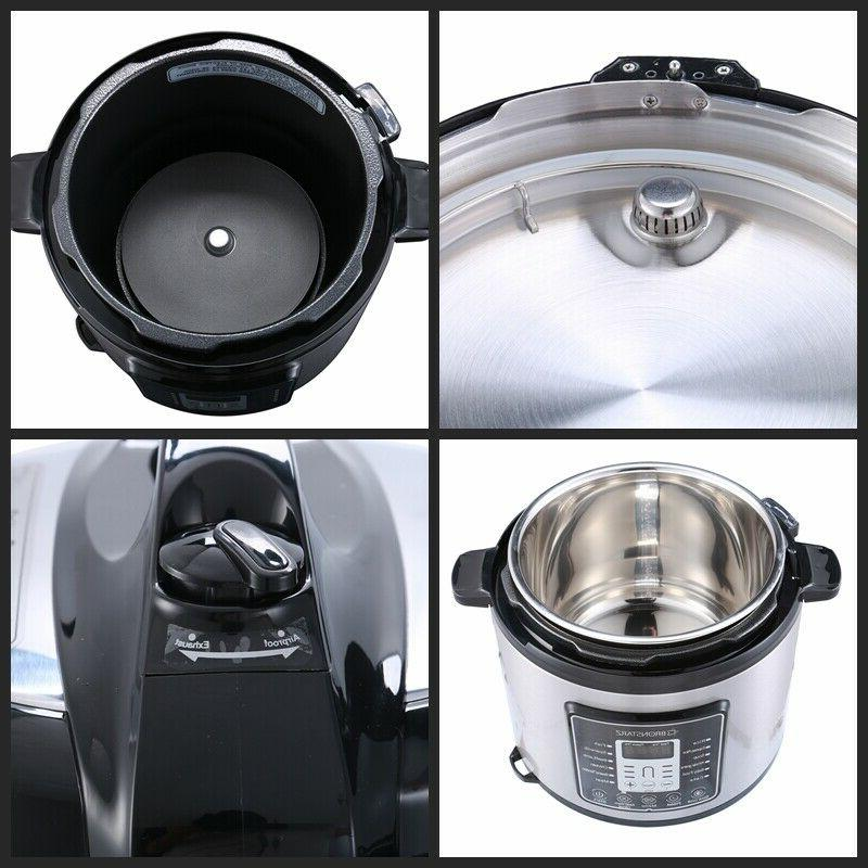 6 Quart Instant Pot Electric Cooker Multi-function Stainless Steel