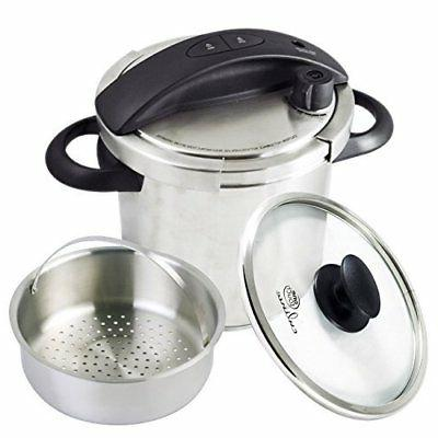 Culina One-Touch Pressure Cooker. Stovetop, 6 Qt. Stainless