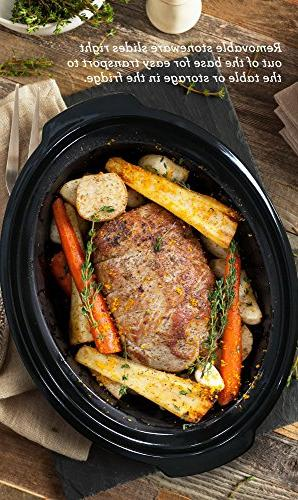 Elite 8.5 Quart Programmable Slow Cooker with Stainless Steel