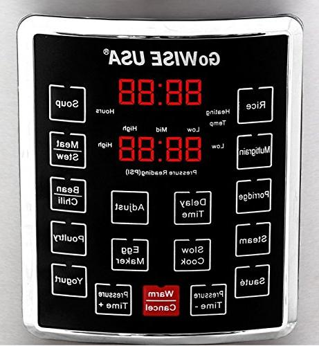 GoWISE USA 10-in-1 Cooker/Slow Cooker,