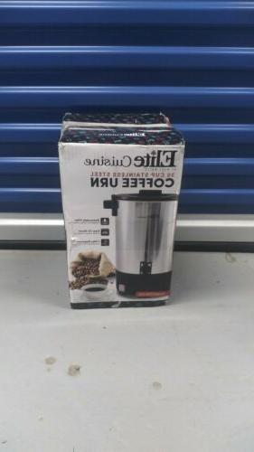 coffee urn 30 cup stainless steel removable