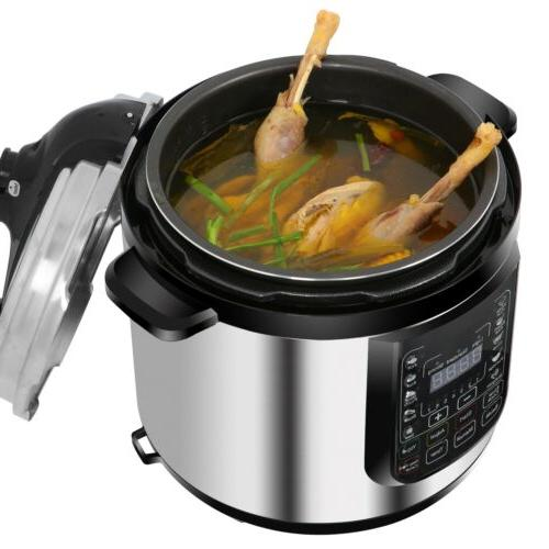 7-in-1 Multi-Use 6.3Qt Programmable Pressure Cooker Slow Coo