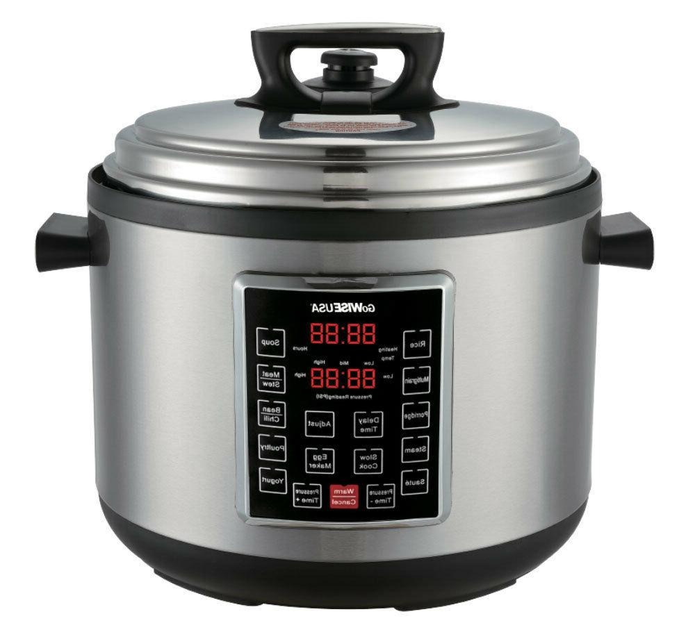 GoWISE USA GW22636 8-in-1 Programmable Pressure Cooker