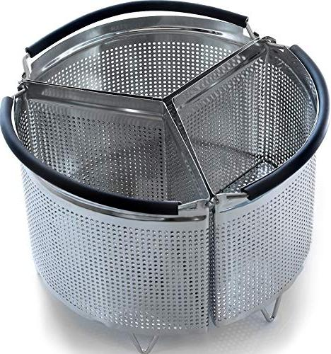 3-Piece Divided Steamer Basket for Instant Pot Accessories 6