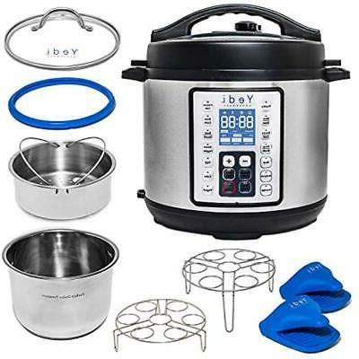 multi use programmable pressure cooker quart stainless steel