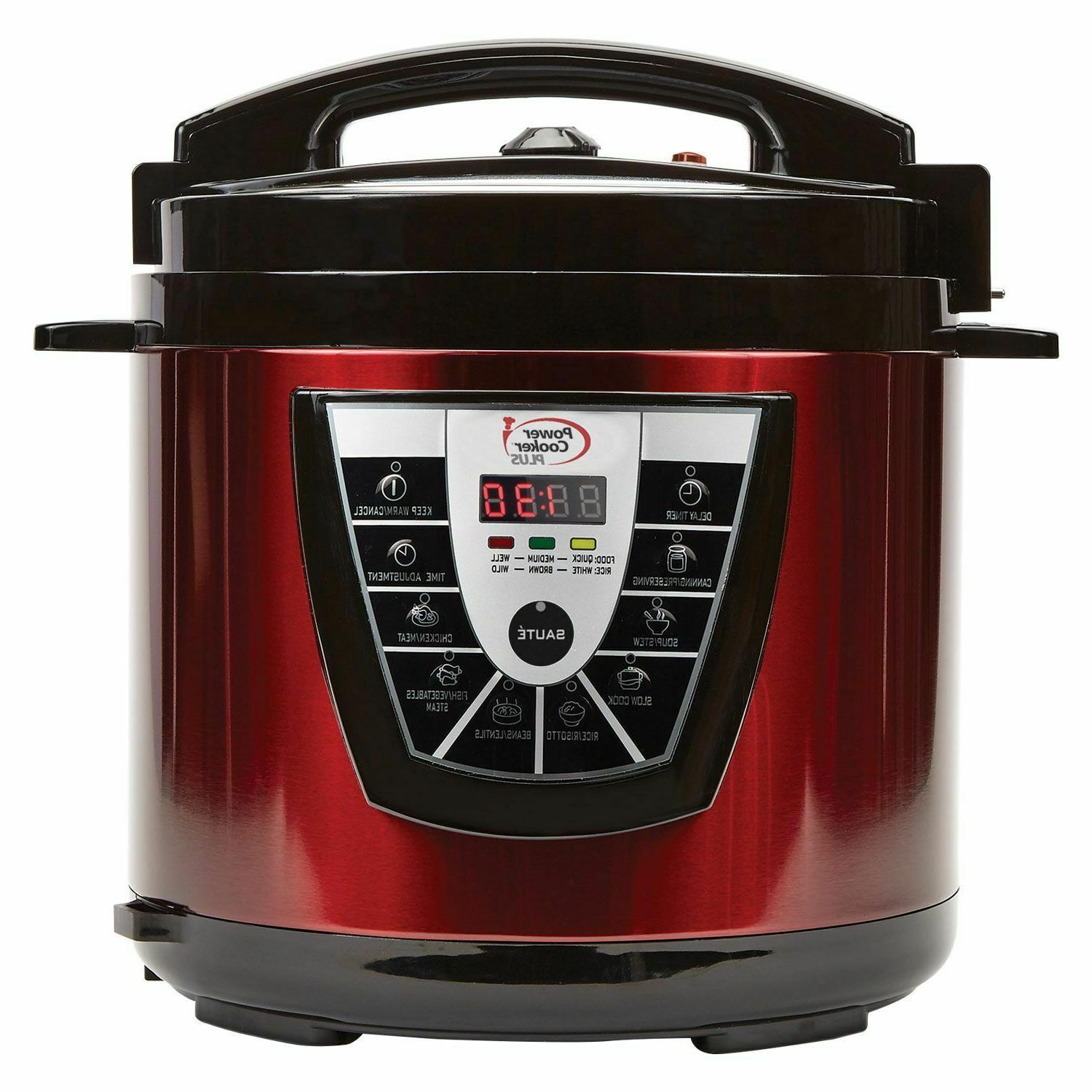 NEW 8 QUART POWER PRESSURE COOKER XL SET NON-STICK DISHWASHE