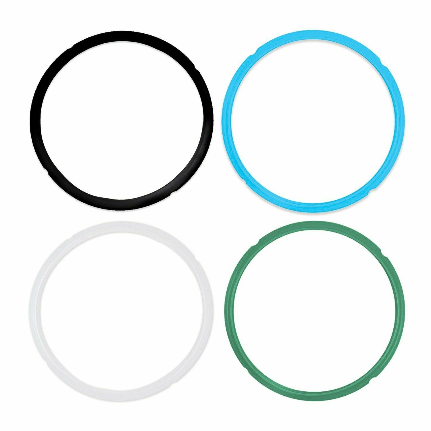 Pack of 4 Silicone Sealing Rings for Instant Pot 5 & 6 Quart