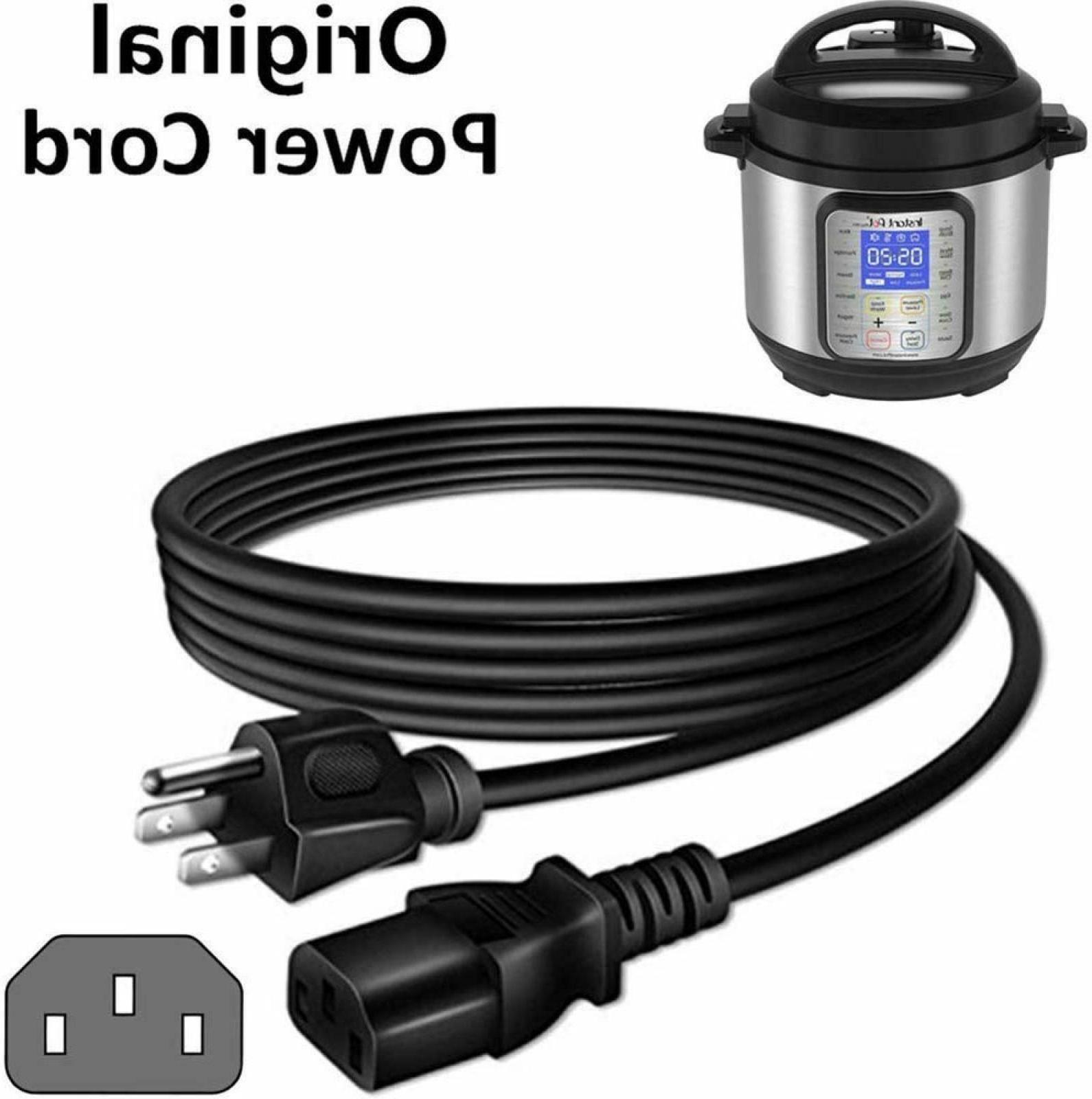 Power Cord Replacement Cable Compatible Instant Pot Electric
