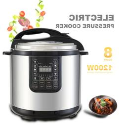 New 8QT 1200W Electric Digital Multifunction Pressure Cooker