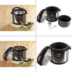 IMUSA Pressure Cooker 5 Qt Digital Red Slow Cook Kitchen Coo