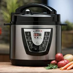 Stainless Steel 10 quart Electric Power Pressure Cooker XL a