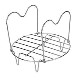 Upgraded Steamer Rack Trivet with Handles Stainless Steel Co